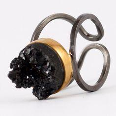 Black agate ring, Black gold Greek ring, Silver ring black stone, black agate solitaire ring