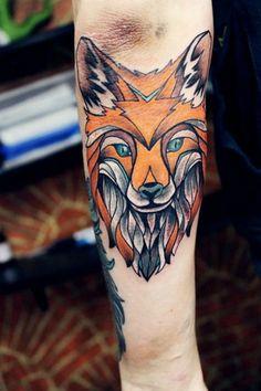 Fox Elbow Tattoo  #tattooideaslive #fox  #elbow #tattoo
