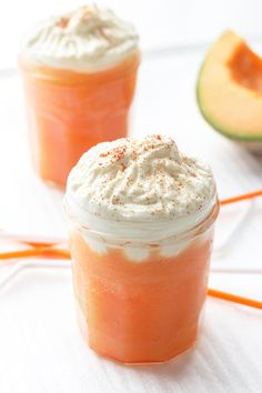 This no-fuss cantaloupe capuccino is a must for cooling down on hot afternoons.