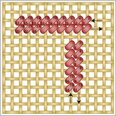 Excellent Continental Stitch Diagram   - © Cheryl C. Fall, Licensed to About.com