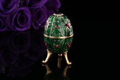 Find More Figurines & Miniatures Information about Beautiful green faberge egg for gift,High Quality egg holder,China egg incubator Suppliers, Cheap egg shells for sale from Qifu Craft & Gift  on Aliexpress.com