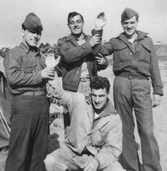 John Basilone and fellow Marines.