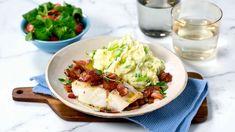 Oppskrift på Stekt torsk med bacon og potetmos