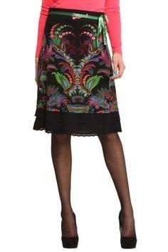 Knee-length black skirt   Desigual Elisa