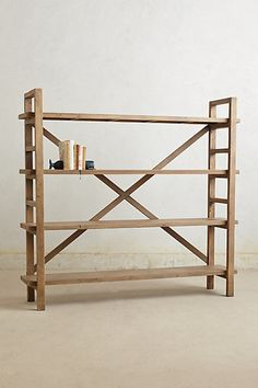 Simple bookcase design, cool in a small space where this won't look too solid