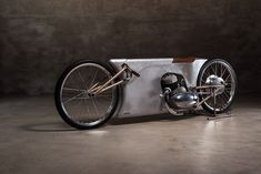 Steampunk motorcycle: A Jawa sprinter built by Urban Motor of Berlin for the…