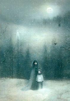 """Art from Kate Bush's """"50 Words for Snow"""" album."""