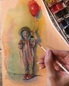 #watercolor #artwork #illustration #circus #carnival #clown #clowngirl Oil Pastel Drawings Easy, Easy Drawings, Watercolor Artwork, Carnival, Illustration, Painting, Inspiration, Biblical Inspiration, Easy Designs To Draw