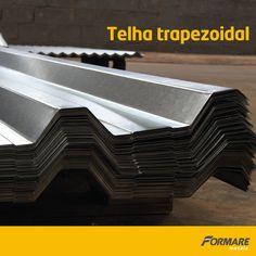 As telhas trapezoidais metálicas da Formare Metais são perfeitamente adaptáveis para o seu projeto, podendo ser utilizadas em coberturas ou em fechamento de laterais.