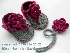 Crochet Baby Shoes Baby Crochet Sandals, these are too cute someone make them for my Hannah - Crochet Baby Sandals, Baby Girl Crochet, Crochet Baby Clothes, Booties Crochet, Crochet Slippers, Crochet For Kids, Baby Booties, Men's Slippers, Crochet Summer