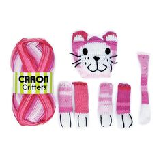 Yarnspirations.com+-++Caron+Critters+Cat+Scarf+-+Pink+-+Accessories++|+Yarnspirations+-+$14.99