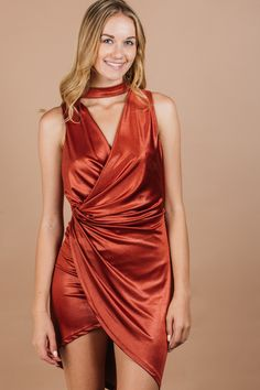 d347cf7770b9 Date Night Red Dress- Women s - Dresses- Going Out and Party Dresses -  Orange