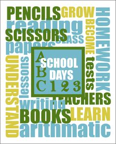 School Days Printable