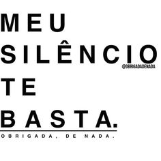 Meu silêncio te