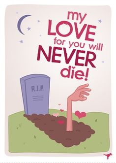 The Best Zombie Valentine's Day Cards   ZombiePlace.Com
