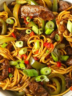 BEEF STIR FRY with Noodles and Sticky Sauce - Coated in a delicious sticky, homemade sauce is a one pan dinner, ready in under 30 minutes. This takeaway is a healthy alternative to a usual takeaway or take out Chinese meal! #tamingtwins #beefstirfry #chineserecipe #30minutemeal #quickdinner Easy Beef Stir Fry, Crispy Beef, Stir Fry Noodles, Sweet Chilli Sauce, Cooking For A Crowd, Homemade Sauce, Quick Dinner Recipes, Pasta Dishes, Vegetarian Recipes