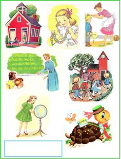 Back to School Scrap Sheet Published by Jenn Erickson/Rook No. 17