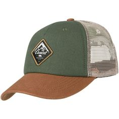 Element Icon Mesh Trucker Cap (olive green) ( 31) ❤ liked on Polyvore  featuring accessories 07fbda875eb