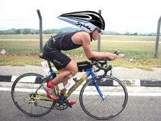 I'm sure this helmet provides some aerodynamic advantage, but I just can't see myself wearing one.
