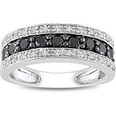 black and white diamond band
