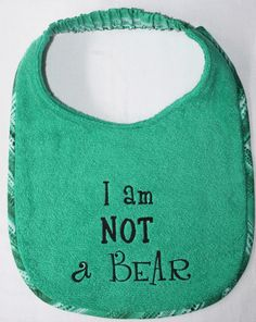 Custom embroidered dog drool bibs and gift items for the XXL dog fancier Grandma Birthday Cakes, Drool Bibs, Coordinating Fabrics, Embroidery Designs, Cricut, Bear, Dogs, Pet Dogs, Create A Critter