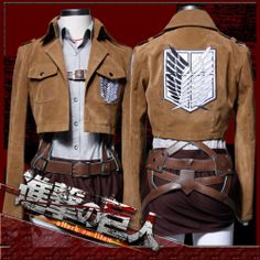 Attack on Titan Shingeki No Kyojin Sasha Blouse Cosplay Costume Belts Full Set | eBay - $185.86