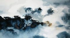 "Saatchi Art Artist Nadia Tognazzo; Painting, ""Sea storm"" #art"