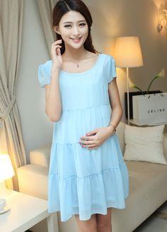 DR000283 Big skirt large yard dress fashion chiffon maternity