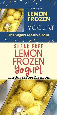 Easy Gluten Free Desserts, Sugar Free Desserts, Sugar Free Recipes, Healthier Desserts, Keto Desserts, Easy Desserts, Frozen Yogurt Recipes, Frozen Desserts, Frozen Treats