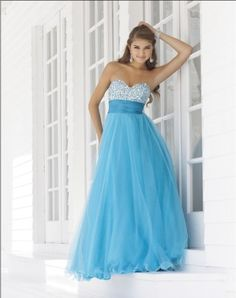 (NO.0256409)2012 Style A-line Sweetheart  Beading  Sleeveless Floor-length Tulle  Prom Dresses / Evening Dresses