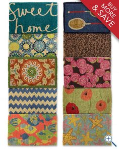 I heart these doormats!  2 for 60 and they are 30% off until the end of the day!