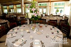 #wedding reception decorations #centerpieces #tablescapes #reception details #Michigan wedding #Mike Staff Productions #wedding details #wedding photography http://www.mikestaff.com/services/photography #tall centerpieces #white flowers