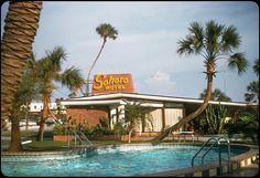 Sahara Motel, Daytona Beach, Florida - 1956, via Flickr.