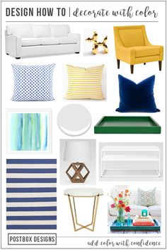 Grab the FREE Plan & Shopping List for this Living Room Makeover! Postbox Designs Interior E-Design for Remodelaholic: 6 Ways to Confidently Decorate with Color! Plus a Free Living Room Design Mood Board + Shopping List Decor, Room Makeover, Home Decor Styles, Room Design, Living Room Colors, Family Room Design, Rooms Home Decor, Home Decor Trends, Affordable Home Decor