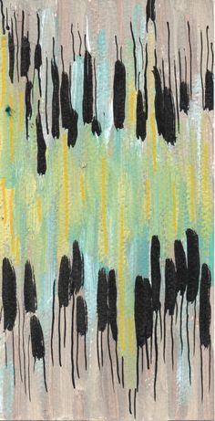 Expérience 16 Acrylique sur papier 20.5x10.5cm. 26-08-14