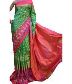 Multicolor Handloom Ikat Silk Saree