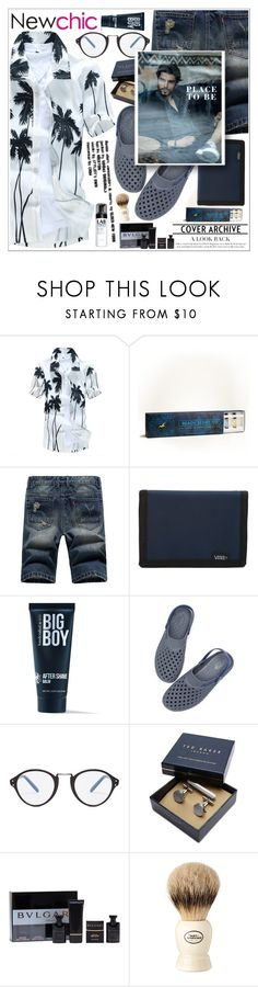 """""""Newchic (1) ♥"""" by av-anul ❤ liked on Polyvore featuring Hollister Co., Vans, 21 Men, Cutler and Gross, Ted Baker, Bulgari, The Art of Shaving and Lab Series"""