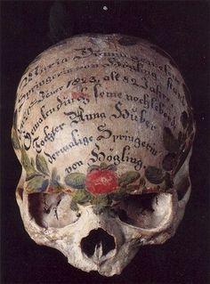 An Inscribed Skull, artist unknown.