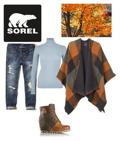 """""""Kick Up the Leaves (Stylishly) With SOREL: CONTEST ENTRY"""" by sophisticatedfashionista on Polyvore featuring SOREL, Hollister Co., River Island, MANGO and sorelstyle"""