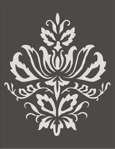 Wall Stencil Damask Design