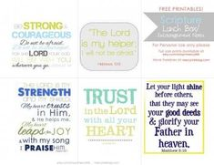 Image result for encouragement bible lunchbox notes