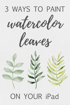 Three Ways to Paint Watercolor Leaves on Your iPad I want to show you how to p – Ipad Pro – Trending Ipad Pro for sales. – Three Ways to Paint Watercolor Leaves on Your iPad I want to show you how to paint watercolor leaves on your iPad using the app … Watercolor Leaves, Watercolor Paintings, Watercolor Brushes, Watercolor Techniques, Watercolour, Watercolor Illustration Tutorial, Painting Art, Illustration Art, Tattoo Watercolor