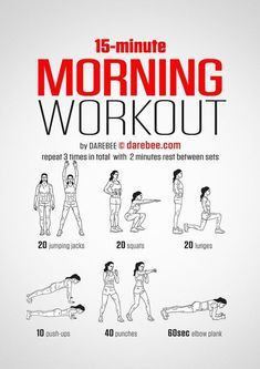 here is your future morning workout 15 minutes every days