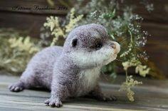 OOAK Needle Felted otter by Artist Tatiana Barakova in Dolls & Bears, Bears, Artist | eBay!