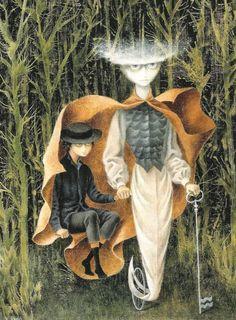 Hacia Acuario - Remedios Varo davidcharlesfoxexpressionism.com #remediosvaro #surrealistpaintings #surrealism