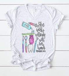 Excited to share this item from my shop Dentist tshirt dental school graduation gift dentist life gift for a dentist cute dentist shirt for women dental hygienist