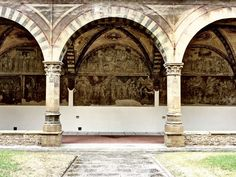 Santa Maria Novella - Church and Cloisters - Florence. Green Cloister - Detail.