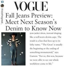 We think @voguemagazine knows a thing or two about the next great line.... Luckily for you we just got a big shipment of @thisisthegreat_ in for fall! Stop by the store or check out shopatmilk.com to get yours! #newarrivals #vogue #vogueapproved #thegreat #fall15 #nextgreatthing #milk #milkboutique