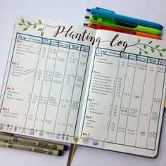 """58 Likes, 2 Comments - Allison Richartz (@allisonwonderlanddesigns) on Instagram: """"I needed another garden related page to log planting dates and such! So here is what I came up…"""""""