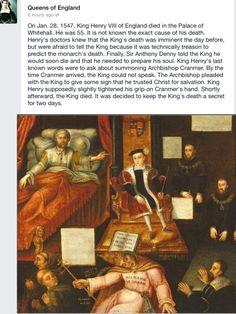 King Henry Vlll's death Hampton Palace, Hampton Court, Tudor Era, Tudor Style, History Of England, Tudor History, King Henry, Henry Viii, Elizabeth Of York